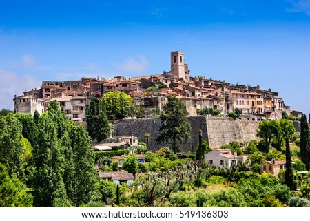 Saint Paul de Vence, a historic village in Nice, France