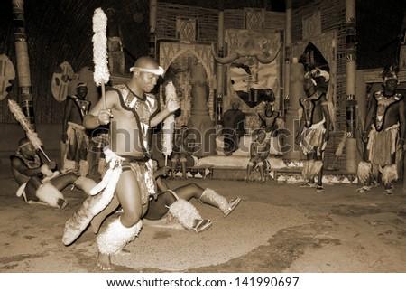 Zulu show on November 27, 2010 Shakaland Zulu Cultural Village