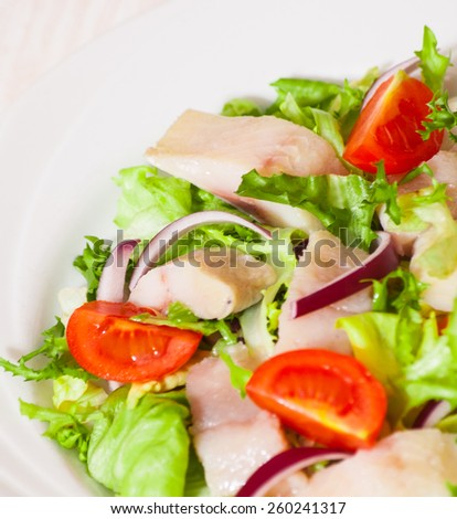 salad with fish