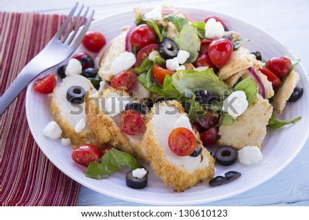 Natural Organic Cottage Cheese Berries Slices Stock Photo ...