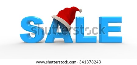 Sale concept with a Santa hat / Christmas Sale