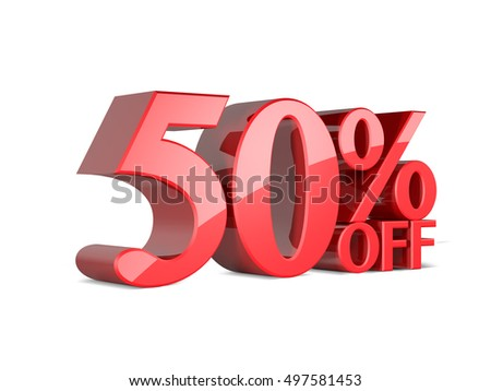 Sale sign 50 % off
