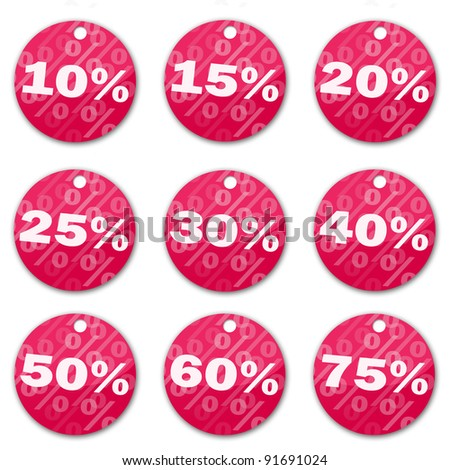 Sale tags (magenta)