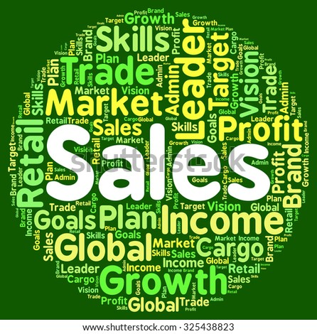 Sales Words Representing Wordcloud Commerce And Wordclouds