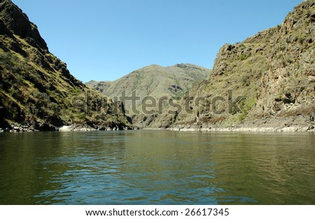 Salmon River with Hills