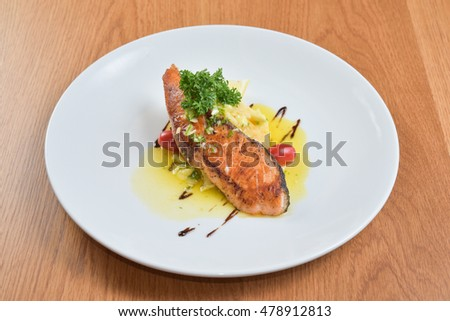 salmon with butter garlic sauce