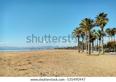 Salou beach. Province of Tarragona, in Catalonia. Spain