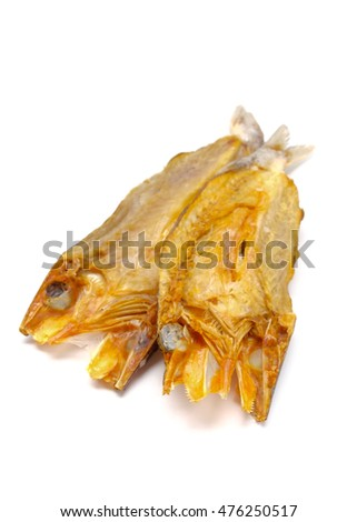 Salted fish isolated on white