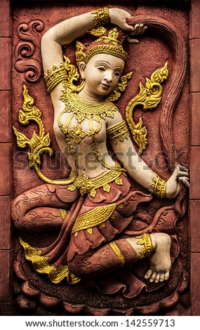 SAMUI, THAILAND - FEB 25: Traditional Asian statues from a stone. Fair of handicraftsmen on Samui. on 25 February 2013 Samui, Thailand.