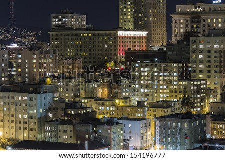 SAN FRANCISCO, CALIFORNIA - JAN 13:  View of San Francisco's Nob Hill tourist district.  The city's 80% hotel occupancy has pushed room rates above $155 per night on Jan 13, 2013 in San Francisco, Ca.