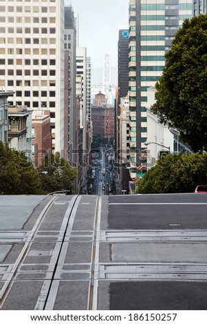 SAN FRANCISCO, CALIFORNIA/USA - AUGUST 6 : A typical street in San Francisco on August 6, 2011