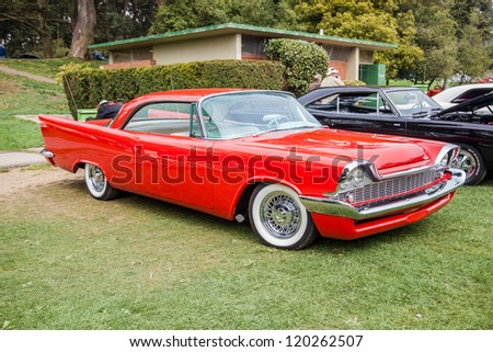 SAN FRANCISCO - SEPTEMBER 29: A 1958 Chrysler Windsor is on display during the 2012 Jimmy's Old Car Picnic in Golden Gate Park in San Francisco on September 29, 2012