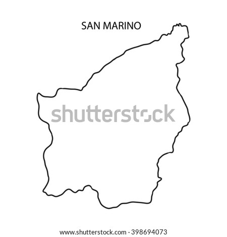 San Marino Map Outline
