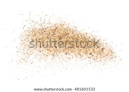 sand isolated on white background