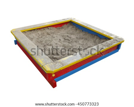 Sandbox isolated on a white background