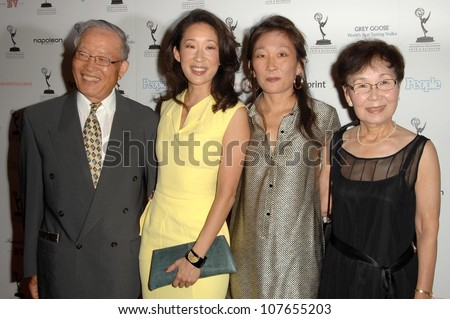 Sandra Oh and family  at the 60th Primetime Emmy Awards Performer Nominee Reception. Pacific Design Center, West Hollywood, CA. 09-19-08