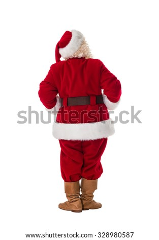 Santa Claus Full-Length Portrait from behind