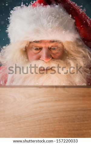 Fireman Santa Wood Pattern outdoor Christmas decoration