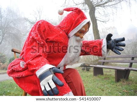 Santa Claus takes a Rest after hard Work