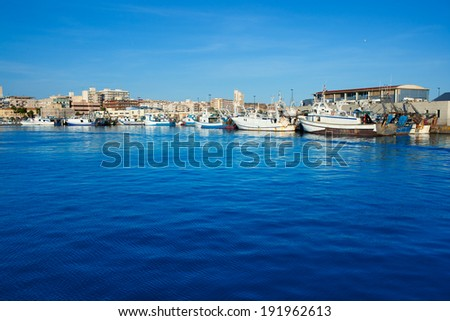 Santa Pola port marina in Alicante Valencia Province of Spain
