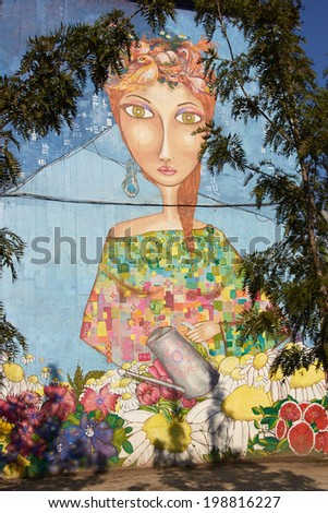 Human disease infection representing medical health stock for Carpenter papel mural santiago chile