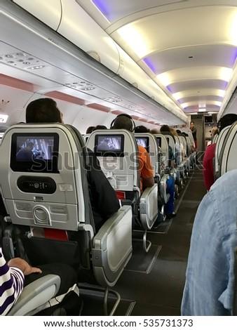 Samara russia 17 november 2013 passengers stock photo for Interior 787 avianca