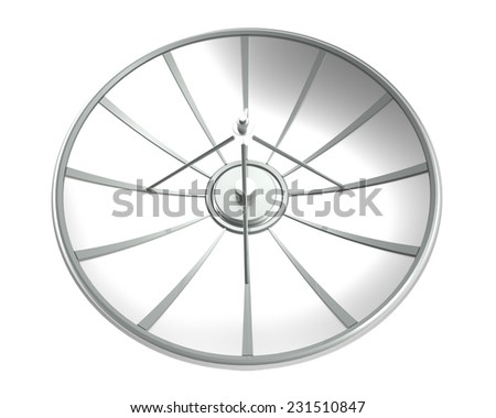 satellite dish isolate on white background with clipping path