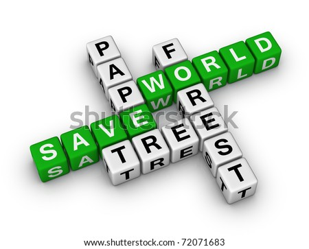 Save Paper, Save World crossword