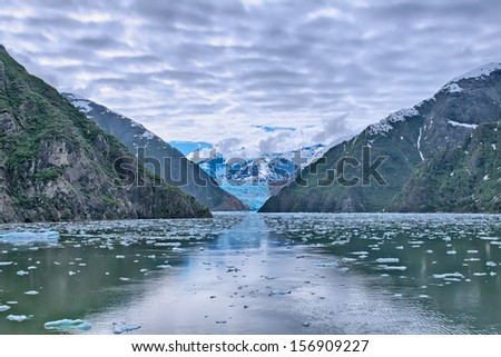 Sawyer Glacier sits at the tip of Tracy Arm Fjord, Alaska