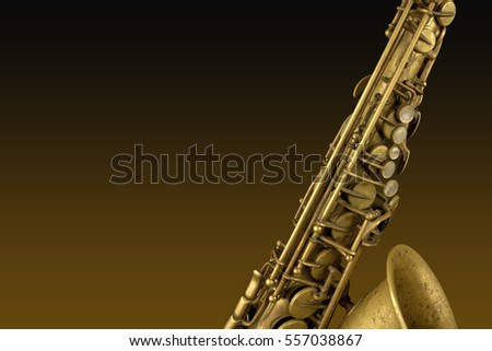Saxophone over a gradient background
