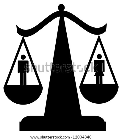 Scales Justice Man Woman Sexual Equality Stock Vector 11936779 ...