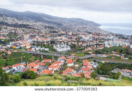 scenery around Funchal, a city of the portuguese island named Madeira