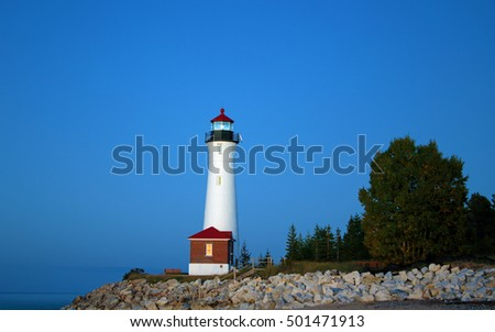 Scenic lighthouse on the shores of Lake Superior/Crisp Point Lighthouse