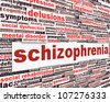 Schizophrenia message concept. Mental disorder concept - stock photo