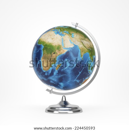 School globe, Africa and Asia view. Elements of this image furnished by NASA