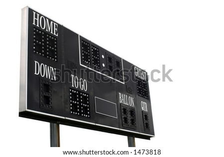 Score Board on white background