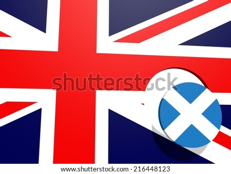 scotland vote for independence, politic relative background with national flag