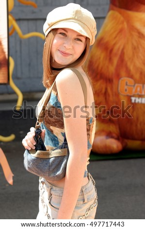 Scout Taylor-Compton at the Los Angeles premiere of 'Garfield: The Movie' held at the Zanuck Theater in Los Angeles, USA on June 6, 2004.