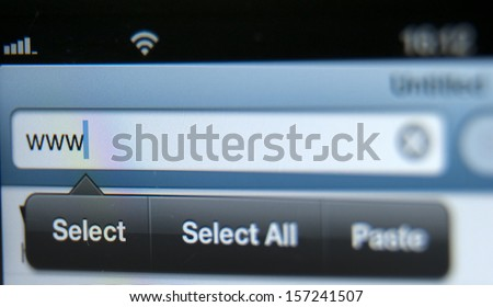 Screen With Address Bar of Web Browser