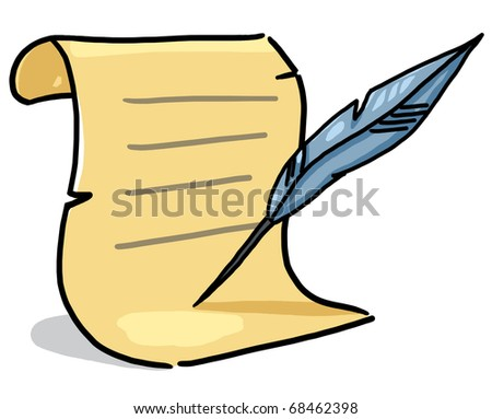 quill and paper clipart - photo #16