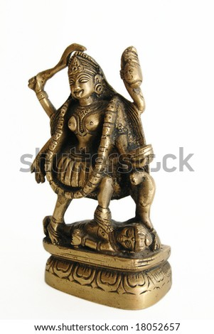 sculpture of Hindu goddess Kali