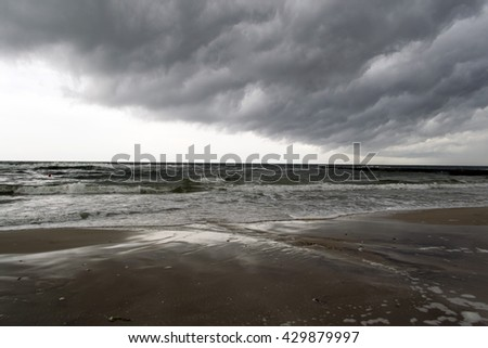 Sea and thundercloud background