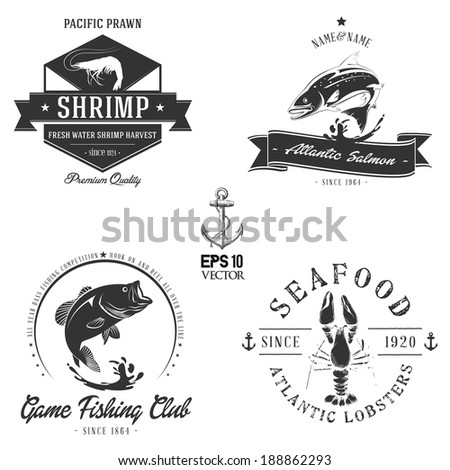 Sea animals badge collection | Bitmap