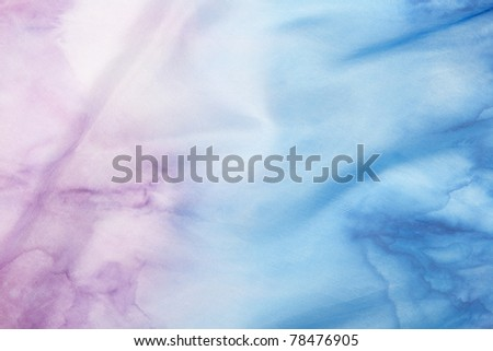 Sea blue  and purple silk background.