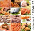Sea products for all tastes - stock