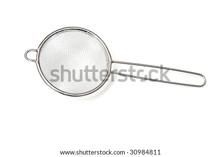 sea strainer isolated on a white studio background.