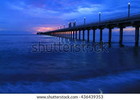 Blue ripped water swimming pool stock photo 132428927 for Seaview fishing pier