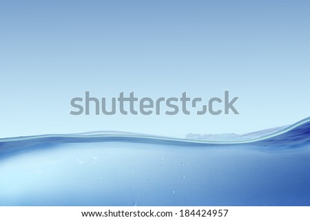 Sea waves on a blue background