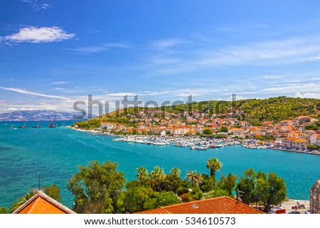 Seafront of Trogir old town in Croatia