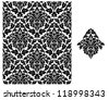 Seamless background with floral pattern for design. Vector version also available in gallery - stock